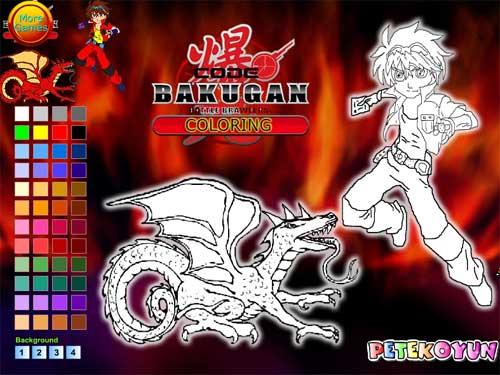 Bakugan igrice – oboji Bakugana