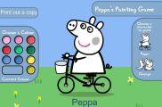Peppa Pig igre bojanja – oboji Peppa prase