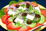 Grčka Salata Igre Pripremanja Salate Kuhanja