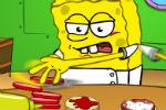 Spužva Bob sprema hamburgere – Posluživanja Hrane