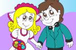 Vjenčani par bojanka